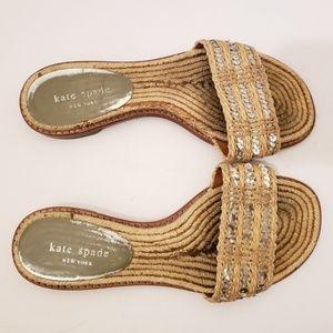 Kate Spade Sequin Espadrille Sandals Sz 7